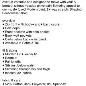 New York & Company Pants - New York and Co Navy bootcut slacks